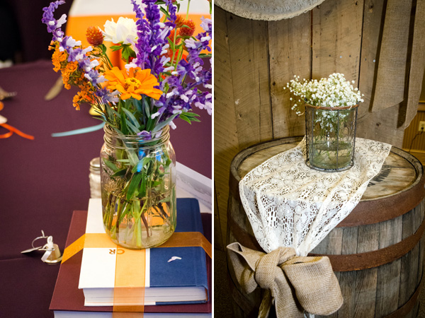 More from this wedding: Personal and Unique in Purple and Orange