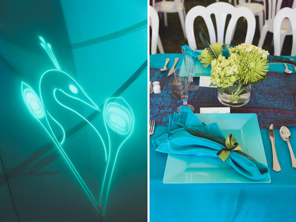 Real SoMd Wedding: A Peacock-Themed Affair in Calvert County