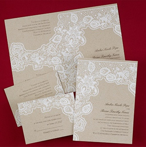 Antique Lace invitations from Busy Bride Wedding Guide