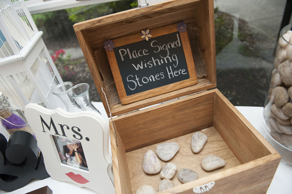 Sign a wishing stone