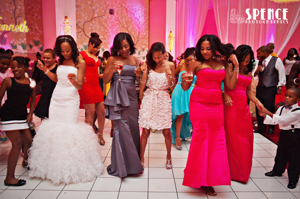 Real SoMd Wedding: Fun in Fuchsia at National Harbor