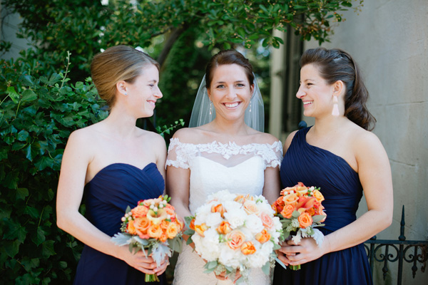 A classic off-the-shoulder dress. Real SoMd Wedding: Twinkle Lights on the Harbor in Annapolis