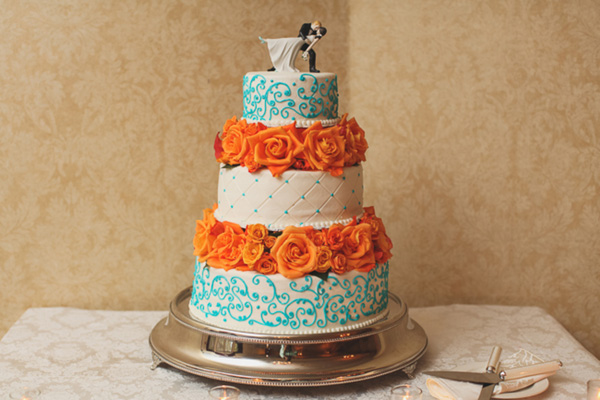 An Aqua and Tangerine Celebration in Annapolis