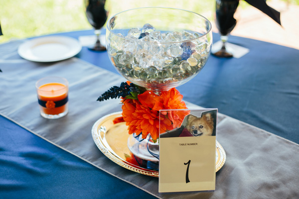 Orange and Blue Accents — and the Cutest Flower Girl!