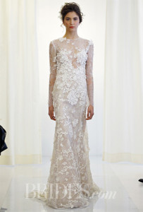 Dress with 3D applique. Image via Brides.com.