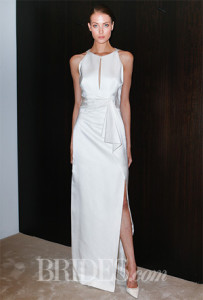Dress with keyhole neckline. Image via Brides.com.